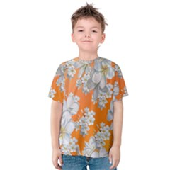Flowers Background Backdrop Floral Kids  Cotton Tee