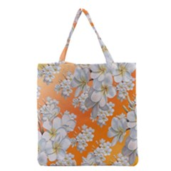 Flowers Background Backdrop Floral Grocery Tote Bag