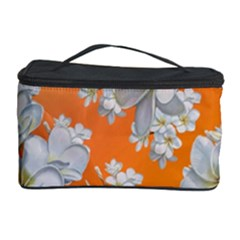 Flowers Background Backdrop Floral Cosmetic Storage Case