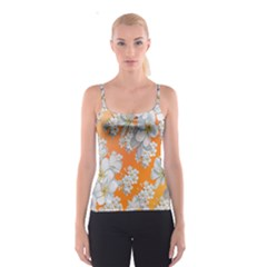 Flowers Background Backdrop Floral Spaghetti Strap Top