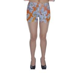 Flowers Background Backdrop Floral Skinny Shorts