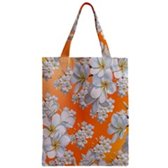 Flowers Background Backdrop Floral Zipper Classic Tote Bag