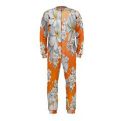 Flowers Background Backdrop Floral Onepiece Jumpsuit (kids)