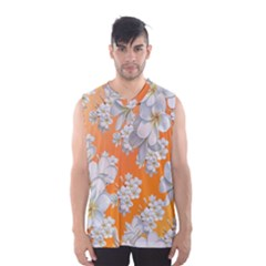 Flowers Background Backdrop Floral Men s Basketball Tank Top