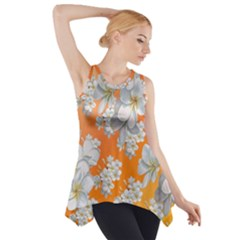Flowers Background Backdrop Floral Side Drop Tank Tunic
