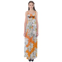 Flowers Background Backdrop Floral Empire Waist Maxi Dress