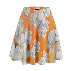 Flowers Background Backdrop Floral High Waist Skirt