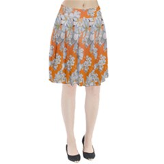 Flowers Background Backdrop Floral Pleated Skirt