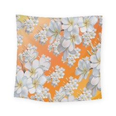 Flowers Background Backdrop Floral Square Tapestry (small)