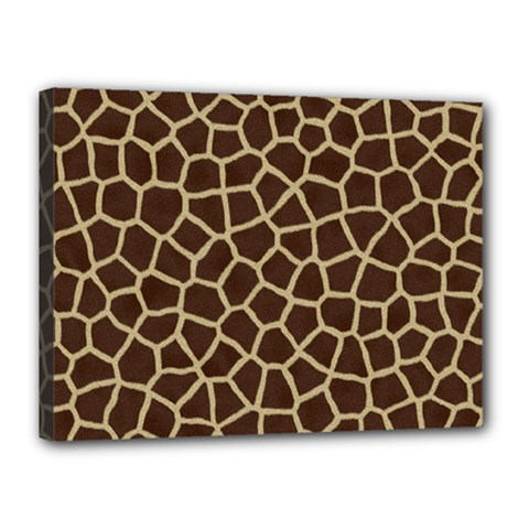 Giraffe Animal Print Skin Fur Canvas 16  X 12
