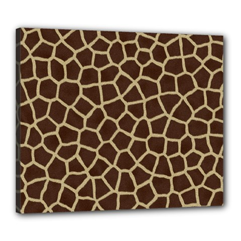 Giraffe Animal Print Skin Fur Canvas 24  X 20