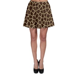 Giraffe Animal Print Skin Fur Skater Skirt
