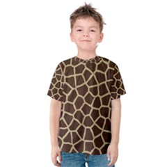 Giraffe Animal Print Skin Fur Kids  Cotton Tee