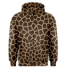 Giraffe Animal Print Skin Fur Men s Zipper Hoodie