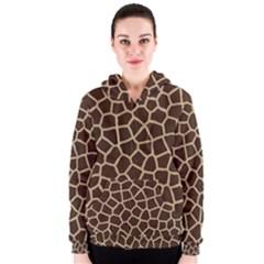 Giraffe Animal Print Skin Fur Women s Zipper Hoodie
