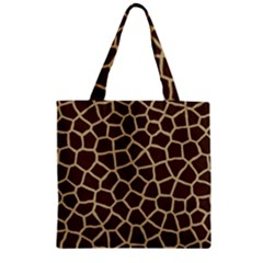 Giraffe Animal Print Skin Fur Zipper Grocery Tote Bag