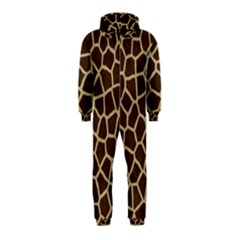 Giraffe Animal Print Skin Fur Hooded Jumpsuit (Kids)