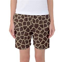 Giraffe Animal Print Skin Fur Women s Basketball Shorts