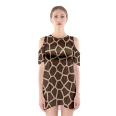 Giraffe Animal Print Skin Fur Shoulder Cutout One Piece