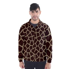 Giraffe Animal Print Skin Fur Wind Breaker (men)