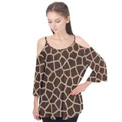 Giraffe Animal Print Skin Fur Flutter Tees