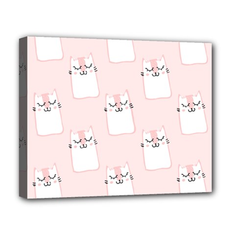 Pattern Cat Pink Cute Sweet Fur Deluxe Canvas 20  X 16