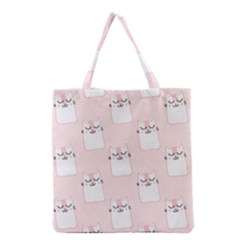 Pattern Cat Pink Cute Sweet Fur Grocery Tote Bag