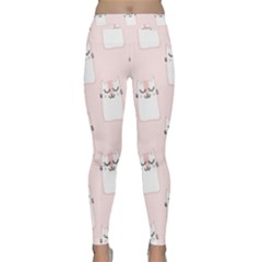 Pattern Cat Pink Cute Sweet Fur Classic Yoga Leggings