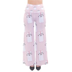 Pattern Cat Pink Cute Sweet Fur Pants