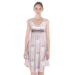 Pattern Cat Pink Cute Sweet Fur Racerback Midi Dress