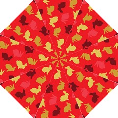 Hare Easter Pattern Animals Folding Umbrellas