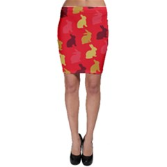Hare Easter Pattern Animals Bodycon Skirt