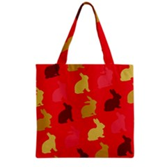 Hare Easter Pattern Animals Grocery Tote Bag