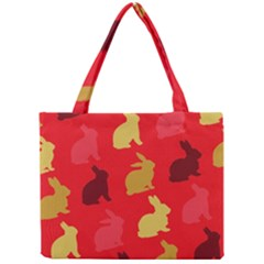 Hare Easter Pattern Animals Mini Tote Bag
