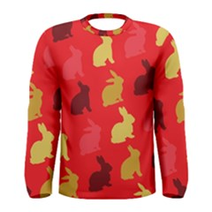 Hare Easter Pattern Animals Men s Long Sleeve Tee