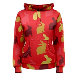 Hare Easter Pattern Animals Women s Pullover Hoodie