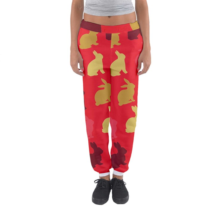 Hare Easter Pattern Animals Women s Jogger Sweatpants