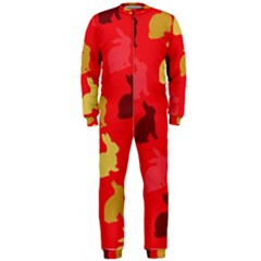Hare Easter Pattern Animals Onepiece Jumpsuit (men)