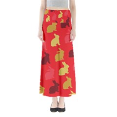 Hare Easter Pattern Animals Maxi Skirts