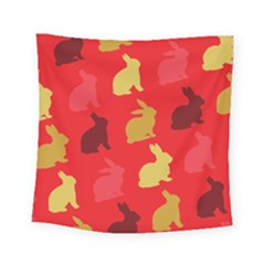 Hare Easter Pattern Animals Square Tapestry (small)
