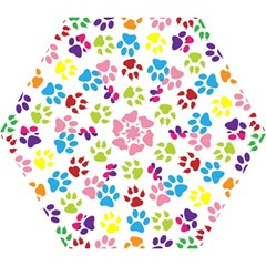 Paw Print Paw Prints Background Mini Folding Umbrellas