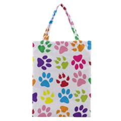 Paw Print Paw Prints Background Classic Tote Bag
