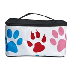 Paw Print Paw Prints Background Cosmetic Storage Case