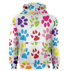 Paw Print Paw Prints Background Men s Pullover Hoodie