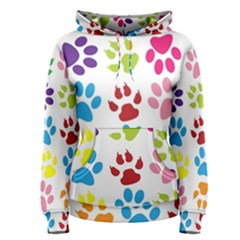Paw Print Paw Prints Background Women s Pullover Hoodie