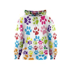 Paw Print Paw Prints Background Kids  Zipper Hoodie