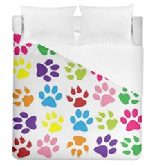Paw Print Paw Prints Background Duvet Cover (queen Size)