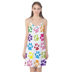 Paw Print Paw Prints Background Camis Nightgown