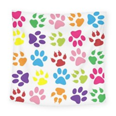 Paw Print Paw Prints Background Square Tapestry (large)