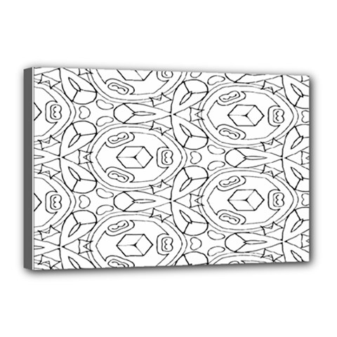 Pattern Silly Coloring Page Cool Canvas 18  X 12